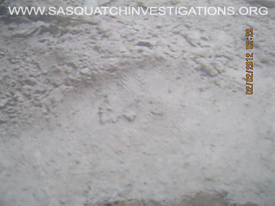 Sasquatch Footprint Ridges Close Picture